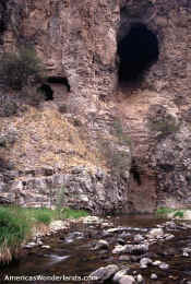 cliff dwelling west for gila river gila wilderness new mexico