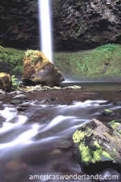 big creek falls - gifford pinchot national forest - washington