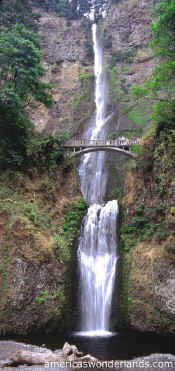 multnoma falls waterfall portland oregon